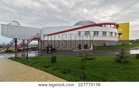 Novosibirsk, Russia - August 10, 2013: Large Novosibirsk Planetarium Is The Largest Astrophysical Ce
