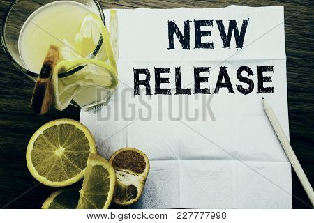 Conceptual Text Caption Showing New Release . Concept For Technology Software Update Written On Tiss