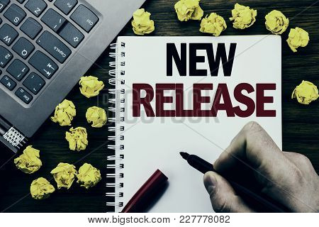 Conceptual Hand Writing Text Caption New Release . Business Concept For Technology Software Update W