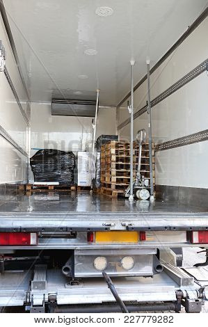 Refrigerator Truck Interior For Perishable Freight Transport