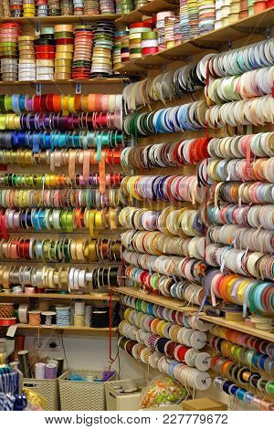 Trimms And Ribbons At Reels In Art Craft Shop