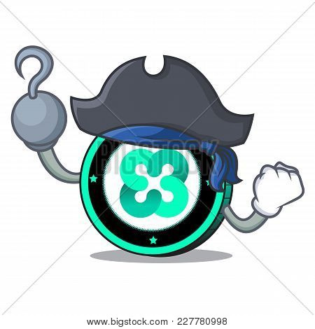 Pirate Ethos Coin Character Cartoon Vector Illustration
