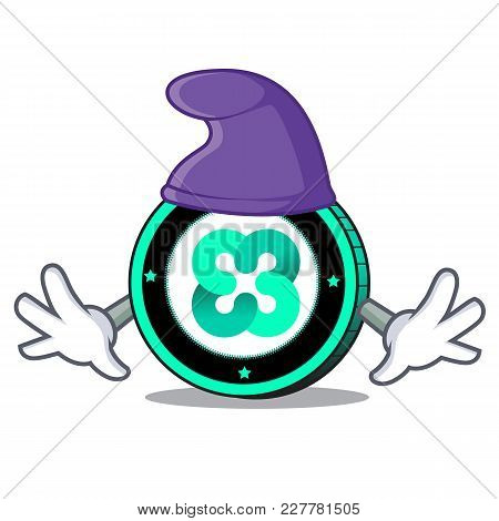 Elf Ethos Coin Character Cartoon Vector Illustration