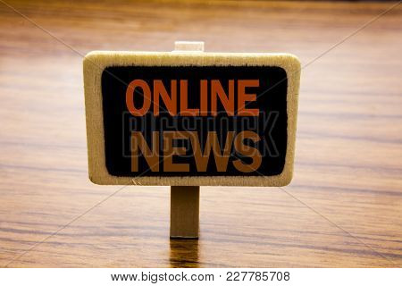 Conceptual Hand Writing Text Caption Inspiration Showing Online News. Business Concept For Online Ne