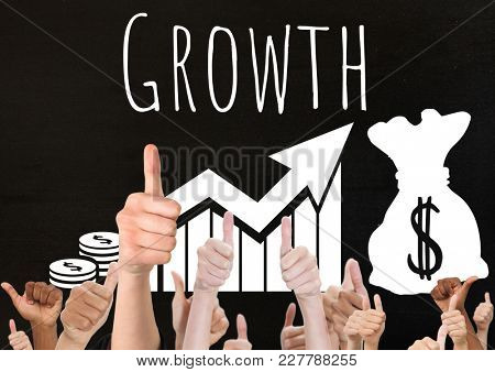 Digital composite of Thumbs up growth