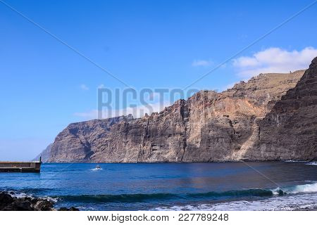 View Of Los Gigantes City In Tenerife Canary Islands Spain