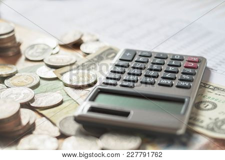 Business Finance And Accounting Concept In Office