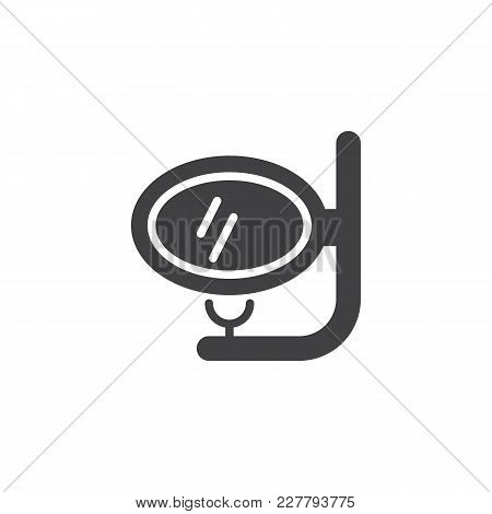 Dive Scuba Mask And Snorkel Vector Icon. Filled Flat Sign For Mobile Concept And Web Design. Snorkel