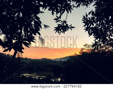 Beautiful View Of Dusk In The Afternoon