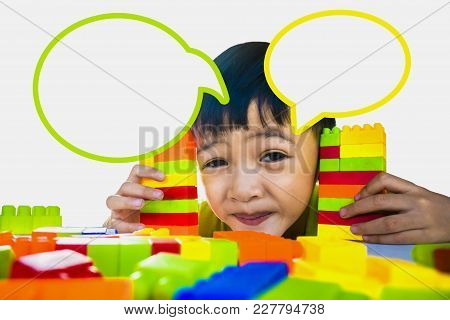 Kids Are Playing Multi Color With Fun Educational Ideas And Child Development.