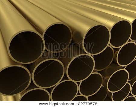 The group of non-ferrous alloy tubing