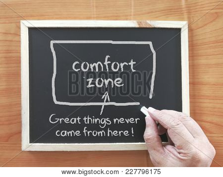Comfort Zone concept on blackboard