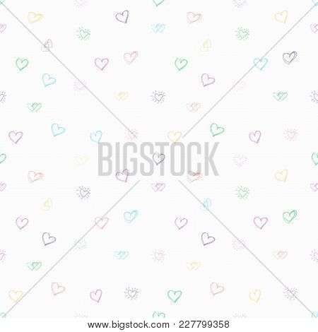 Tender Sentiment. Beautiful Love Pattern. Vector Illustration For Valentines Day