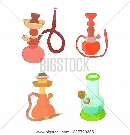 Hookah Icon Set. Cartoon Set Of Hookah Vector Icons For Web Design Isolated On White Background