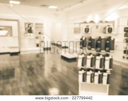 Blurred Wireless Provider Store In America