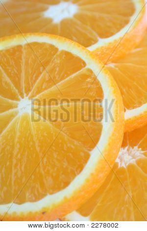 Saftige Orange Scheiben