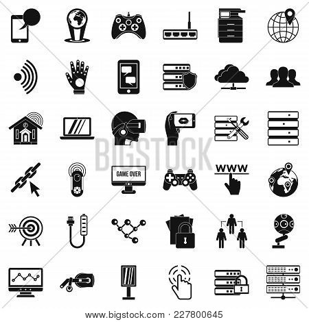 Transmitter Icons Set. Simple Set Of 36 Transmitter Vector Icons For Web Isolated On White Backgroun