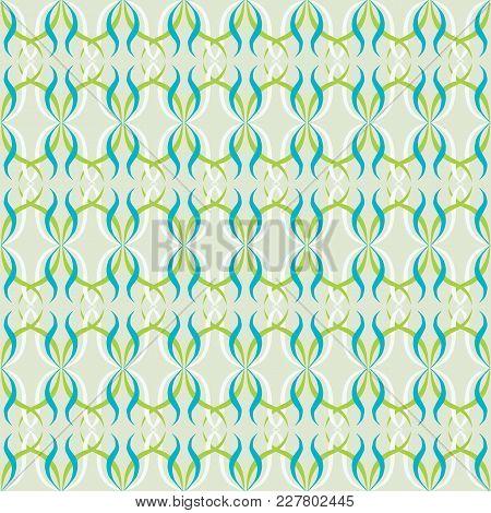 Japanese Traditional Retro Wagara Seamless Pattern Background Curve Sprial Cross Vine