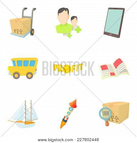 Forwarding Icons Set. Cartoon Set Of 9 Forwarding Vector Icons For Web Isolated On White Background