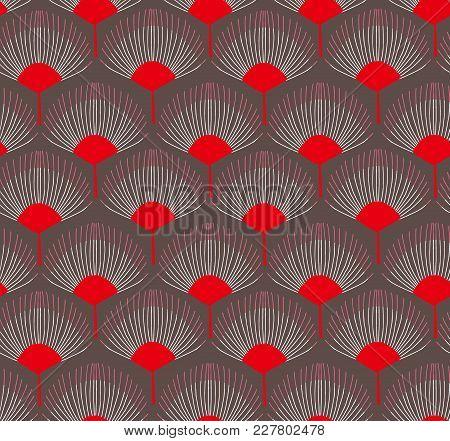 Japanese Traditional Retro Wagara Seamless Pattern Background Garden Flower