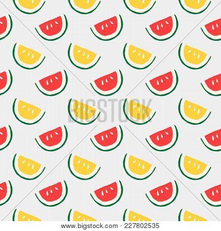 Japanese Traditional Retro Wagara Seamless Pattern Background Fruit Water Melon
