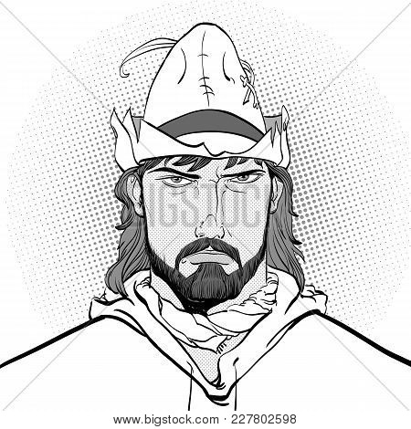 Robin Hood. Robin Hood In A Hat With Feather. Young Soldier. Noble Robber. Defender Of Weak. Medieva
