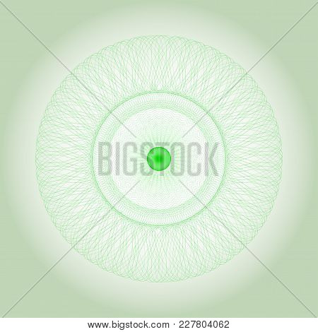 Circle Guilloche In Vector.  Abstract Round Frame From Thin Lines.