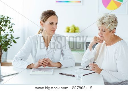 Patient Looking At The Results