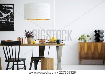 Black Chairs In Dining Room