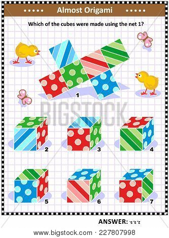 Iq Training Visual Math Puzzle (suitable Both For Kids And Adults): When The 1 Is Folded To Form A C