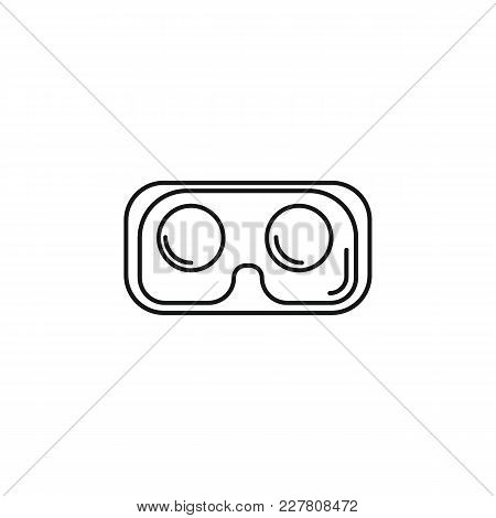 Virtual Reality Glasses Outline Icon. Virtual Reality Glasses Vector Illustration On White Backgroun