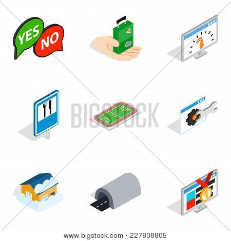 Delivery Of Equipment Icons Set. Isometric Set Of 9 Delivery Of Equipment Vector Icons For Web Isola