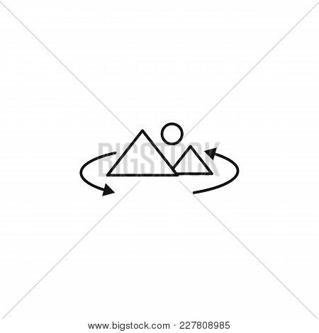 Virtual Reality Outline Icon. Virtual Reality Vector Illustration On White Background. Element For V
