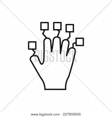Hand Controller Outline Icon. Vr Hand Controller Vector Illustration On White Background. Element Fo