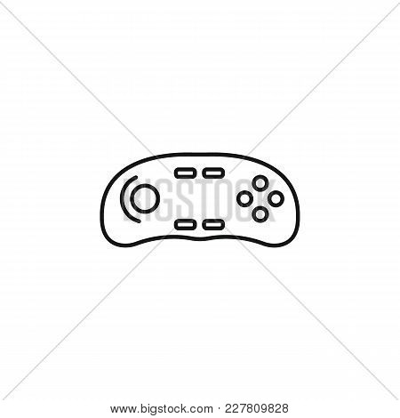 Virtual Reality Remote Control Outline Icon. Remote Control Vector Illustration On White Background.