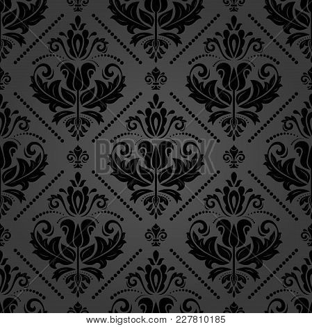 Orient Vector Classic Pattern. Seamless Abstract Background With Vintage Elements. Orient Dark Backg