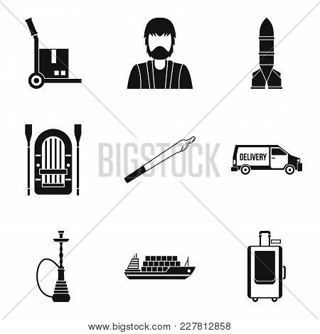 Smuggling Icons Set. Simple Set Of 9 Smuggling Vector Icons For Web Isolated On White Background
