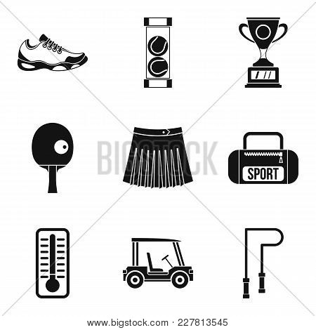 Sport Workout Icons Set. Simple Set Of 9 Sport Workout Vector Icons For Web Isolated On White Backgr