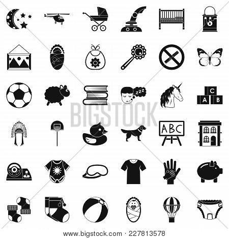 Minor Icons Set. Simple Set Of 36 Minor Vector Icons For Web Isolated On White Background