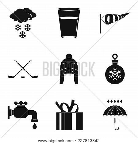 Freezing Icons Set. Simple Set Of 9 Freezing Vector Icons For Web Isolated On White Background