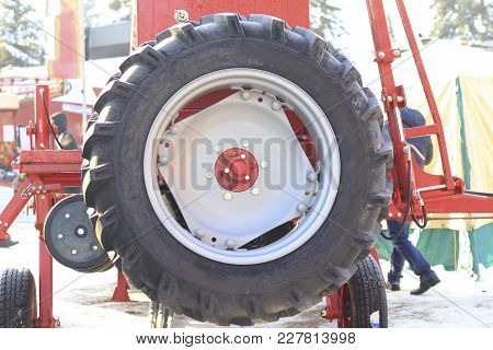 Agricultural Machinery, Spare Wheel Of Industrial Equipment, Agribusiness And Industrial Concept