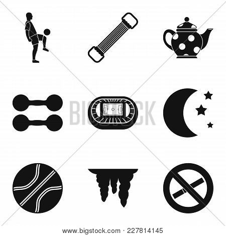 World Sport Icons Set. Simple Set Of 9 World Sport Vector Icons For Web Isolated On White Background