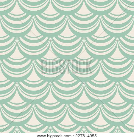 Light blue stylish abstract seamless repetition pattern with composition of decorative weaves as  window shade vector illustration poster