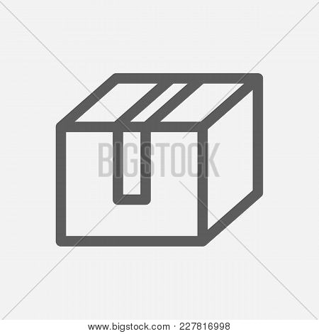 Delivery Service Box Icon Line Symbol. Isolated Vector Illustration Of Parcel Sign Concept For Your