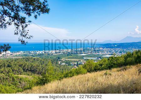 Landscape View Of Beach. Kemer, Turkey