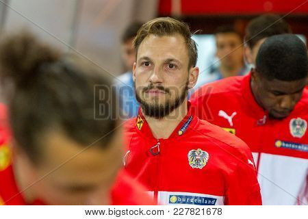Vienna, Austria, 2017/11/14:  Andreas Ulmer At Friendly International Soccer Match Austria Vs Urugau