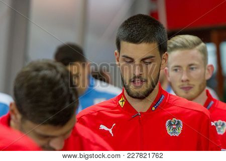 Vienna, Austria, 2017/11/14: Florian Grillitsch At Friendly International Soccer Match Austria Vs Ur
