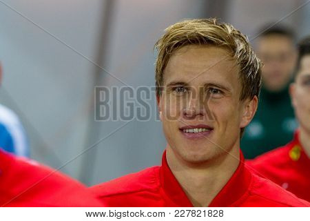 Vienna, Austria, 2017/11/14:  Moritz Bauer At Friendly International Soccer Match Austria Vs Urugauy