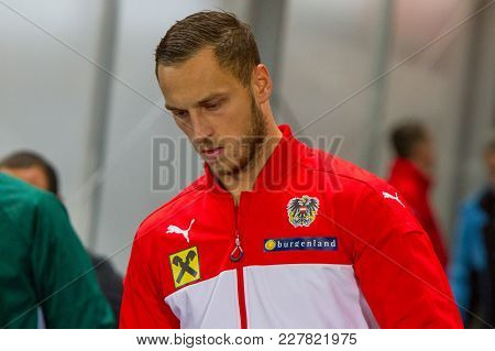 Vienna, Austria, 2017/11/14:  Marko Arnautovic At Friendly International Soccer Match Austria Vs Uru