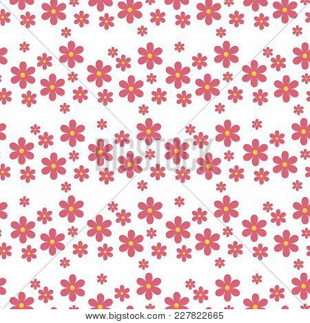 Floral Pattern Vector Seamless With Flowers Gentle Spring Flora Wallpaper Textile Design Nature Blos